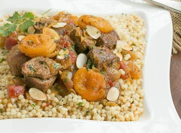Lamb Tagine with Dried Apricots | Comfort food with a Moroccan influence