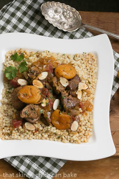 Slow Cooked Lamb and Dried Apricot Tagine