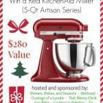 Holiday KitchenAid Mixer Giveaway #Giveaway