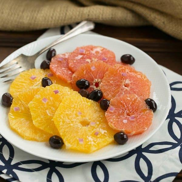 Orange Olive Salad #FrenchFridayswithDorie