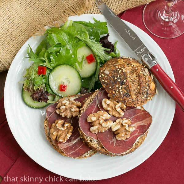 Tartine de Viande des Grisons - A simple, tasty open faced sandwich