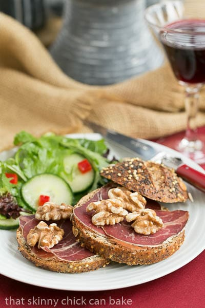 Tartine de Viande des Grisons | A simple, tasty open faced sandwich