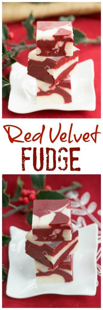 Red Velvet Fudge | This marbleized fudge will make you swoon!