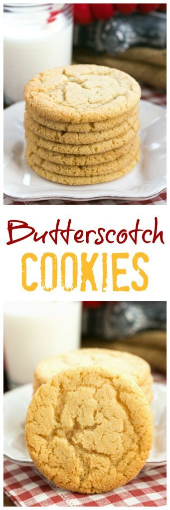 Butterscotch Cookies | a soft, chewy family favorite