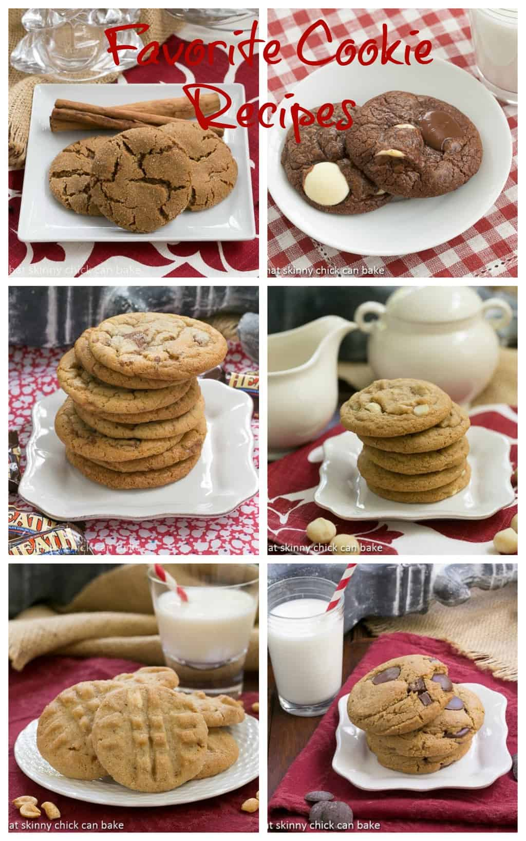 6 of my Favorite Cookie Recipes - if your sweet tooth is acting up, these quick to make cookies options are the remedy! #cookies #desserts #favoritecookies #recipes