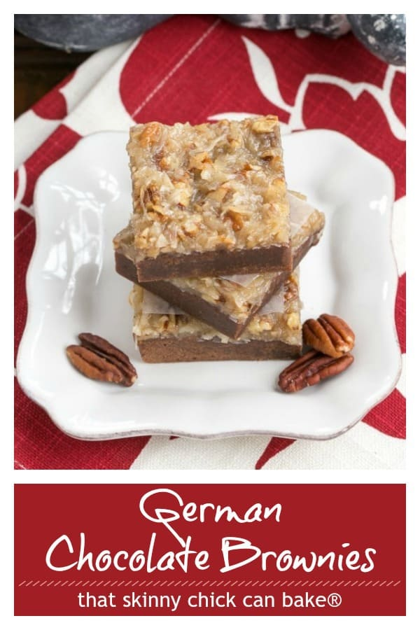 German Chocolate Brownies Pin collage