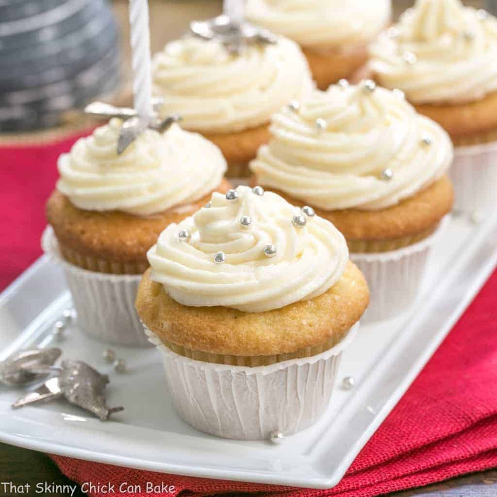 Vanilla Cupcakes with Cream Cheese Frosting are the perfect dessert for any occasion | That Skinny Chick Can Bake