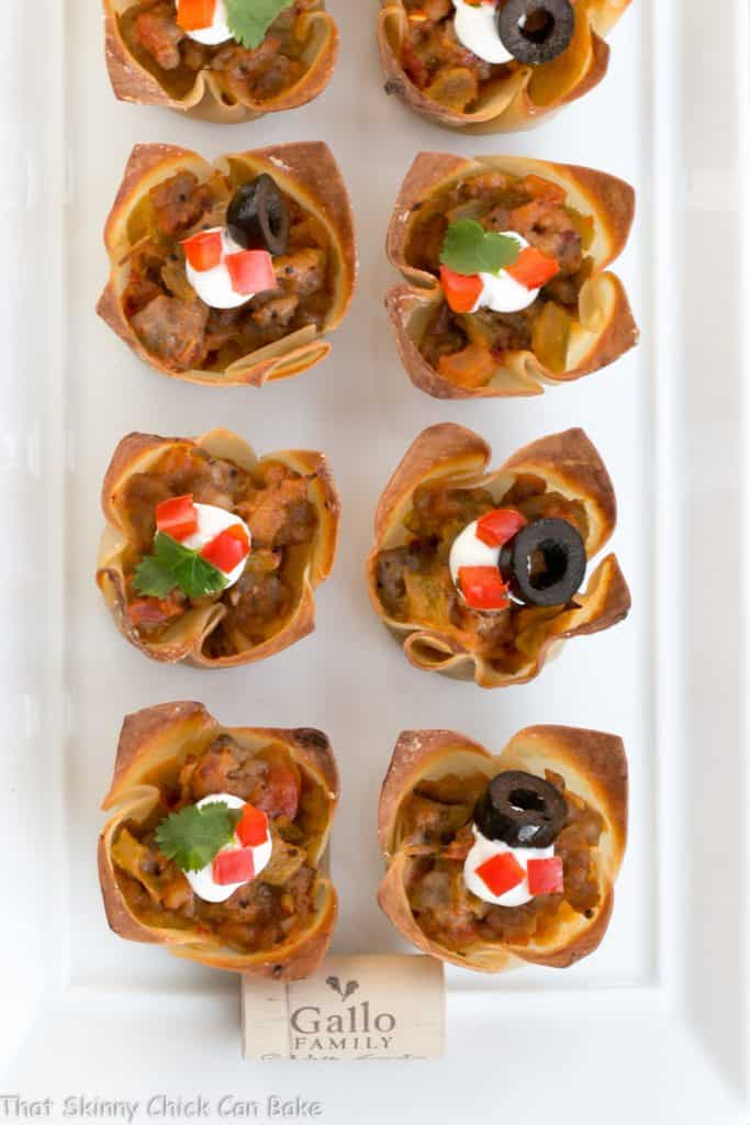 Mini Mexican Tarts | Crispy Shells filled with spiced sausage and cheese create delicious, spicy sausage appetizers