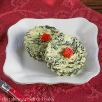 Mini Spinach Soufflés
