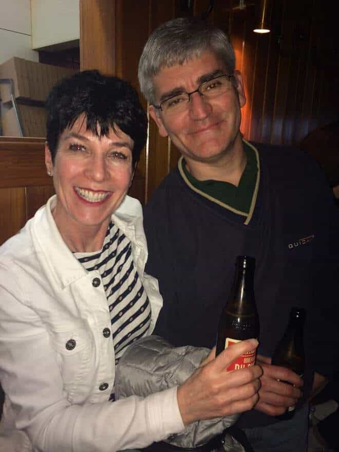 Liz and Bill on New Year's Eve in Queenstown