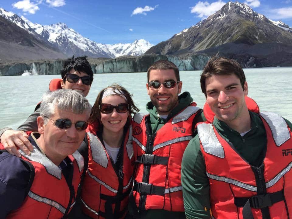 Family On Tasman Lake