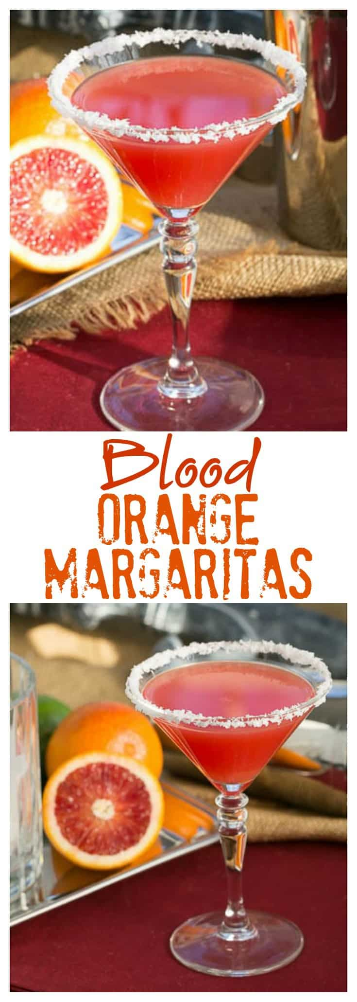 Blood Orange Margaritas - An elegant, vibrant cocktail