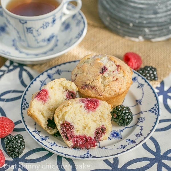 Berry Muffins | Moist, packed with berries  and irresistible!