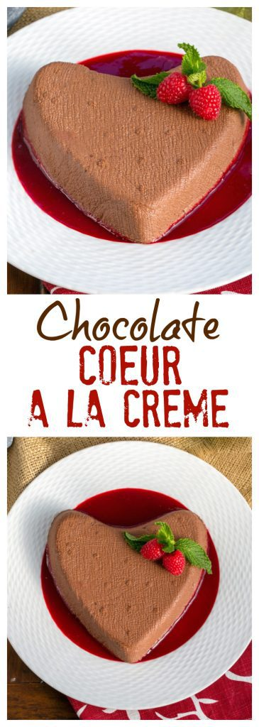 Chocolate Coeur a la Creme | This creamy heart-shaped dessert is the epitome of Valentine's Day sweets!