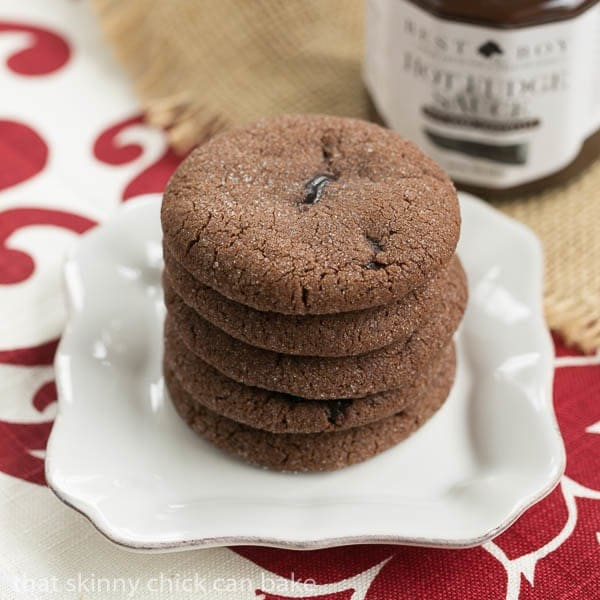 A stack of Chocolate Lava Cookies