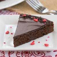 Ganache Topped Truffle Brownies
