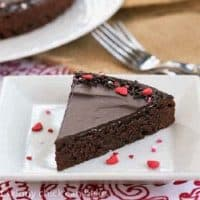 A wedge of Ganache Topped Truffle Brownies featured image
