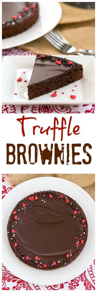 These rich, Ganache Topped Truffle Brownies are the perfect treat for when those chocolate cravings hit!