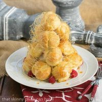 Lemon Cream Croquembouche