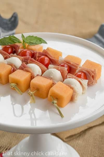 Melon and Prosciutto Skewers