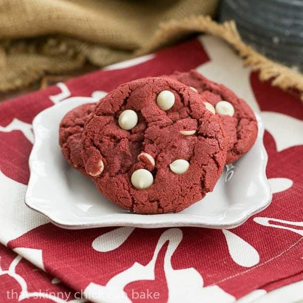 Red Velvet Cookies | All the deliciousness of red velvet cake in big, chewy cookies