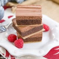 Rich Frosted Brownies | Fudgy brownies topped with rich, chocolate buttercream frosting