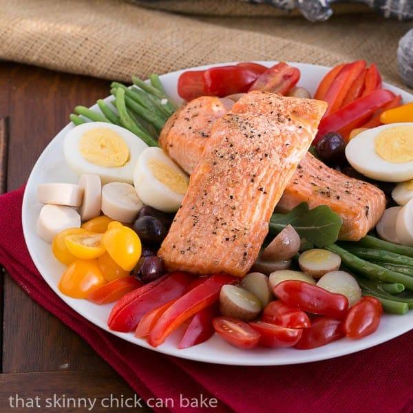 Salmon Salad Niçoise   Heart healthy, gourmet meal!