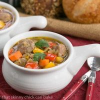 Sausage Pepper and Bean Soup   hearty and pure comfort!