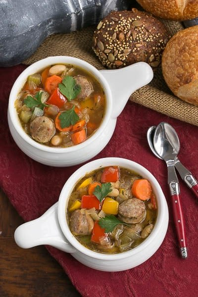 Sausage Pepper and Bean Soup