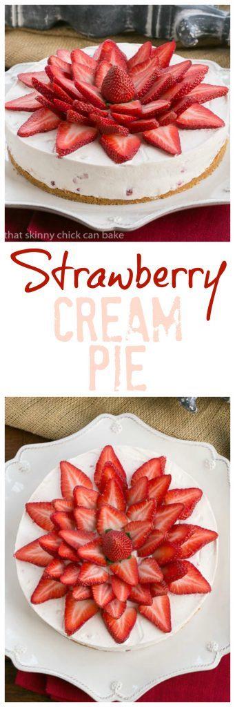 Strawberry Vanilla Cream Pie   An exquisite strawberry and cream dessert!