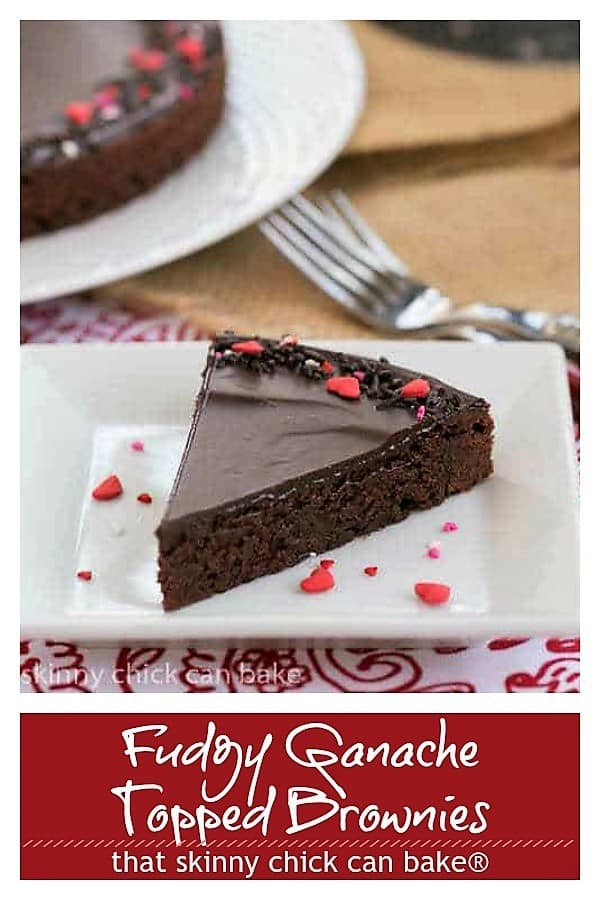 Ganache Topped Truffle Brownies pinterest collage