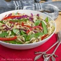 Asian Coleslaw | Crunchy, vibrant vegetables dressed with an Asian vinaigrette