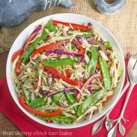 Asian Coleslaw - Crunchy, vibrant vegetables dressed with an Asian vinaigrette