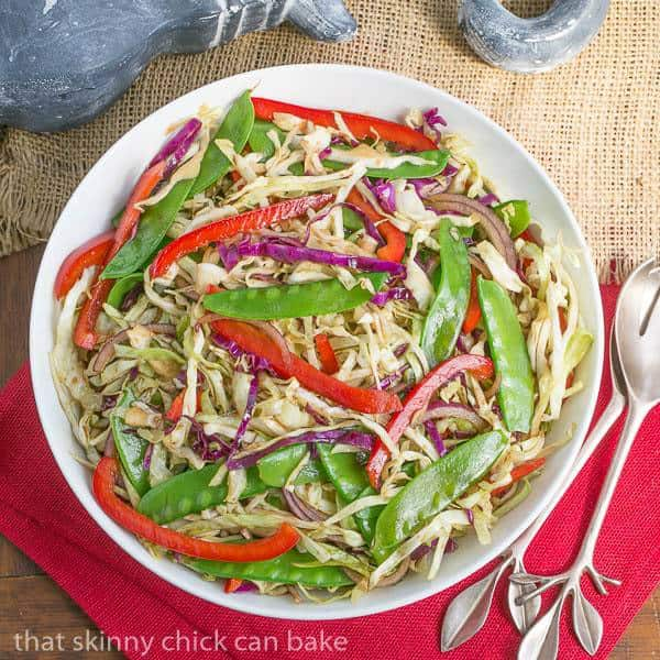 Asian Coleslaw | Crunchy, vibrant vegetables dressed with an Asian vinaigrette