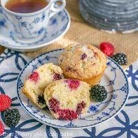 Berry Muffins - Moist, packed with berries and irresistible!
