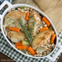 Chicken Couscous - a delicious melange of chicken, herbs and vegetables served over couscous
