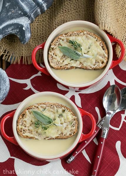 Two bowls of Côte d'Azur Cure-All-Soup