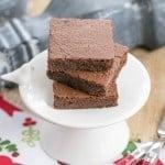 Flourless Mocha Brownies #SundaySupper