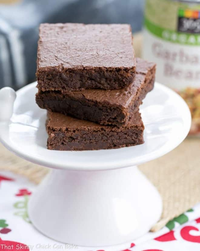 Flourless Mocha Brownies   Healthier Brownies made with Garbanzo Beans