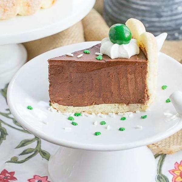 Irish Chocolate Mousse Cake | St Patrick's Day dessert