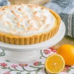 Meyer Lemon Tart with Meringue Topping