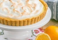 Meyer Lemon Tart | Graham cracker crust filled with tart Meyer lemon curd and topped with a cloud of toasted meringue