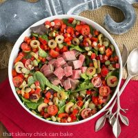 Next Day Beef Salad - Yesterday's roast beef plus whatever's in your fridge makes for a fabulous meal!