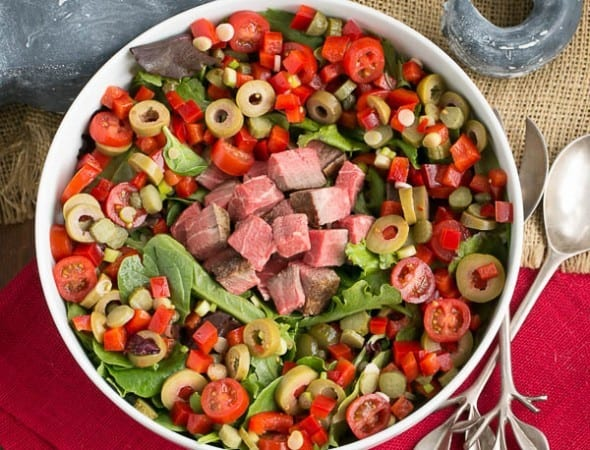 Next Day Beef Salad | Yesterday's roast beef plus whatever's in your fridge makes for a fabulous meal!