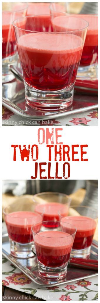 One Two Three Jello | A retro layered jello recipe
