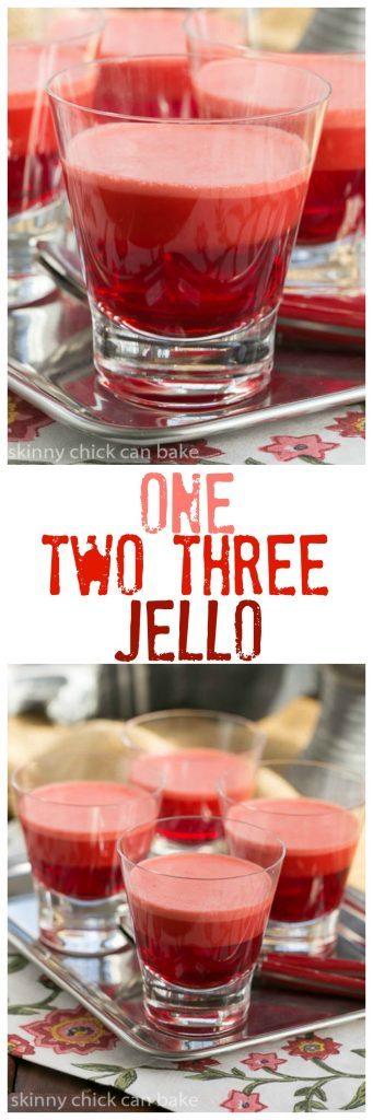 One Two Three Jello | A retro layered jello recipe