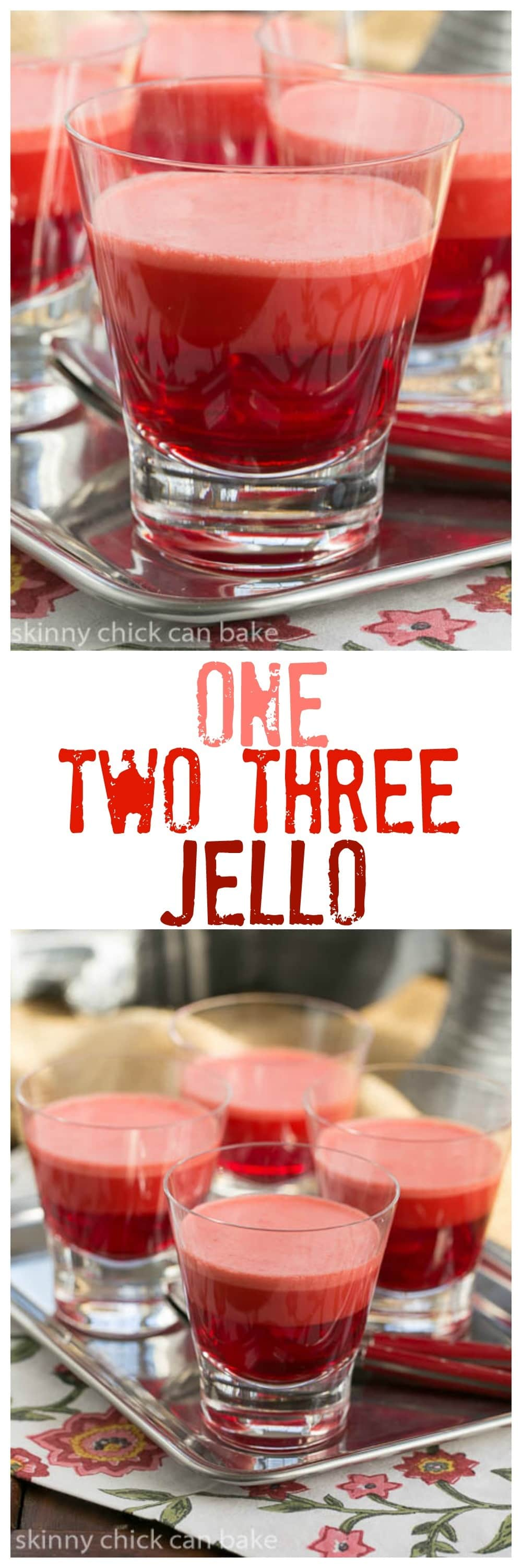 Retro One Two Three Jello! A homemade version of this classic, packaged dessert from the '70's. #jello #retrodessert #retro
