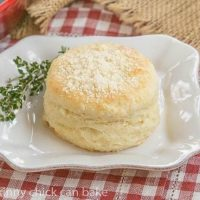 Buttermilk Goat Cheese Biscuits - Tender, flaky biscuits with an extra richness from goat cheese