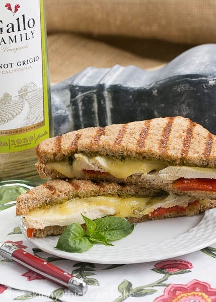 Chicken Pesto Grilled Cheese | An over the top grilled cheese sandwich