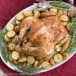 Classic Roast Chicken with Mustard Potatoes #WeekdaySupper